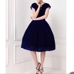 Dresses & Skirts - Lovely Blue Velvet Dress